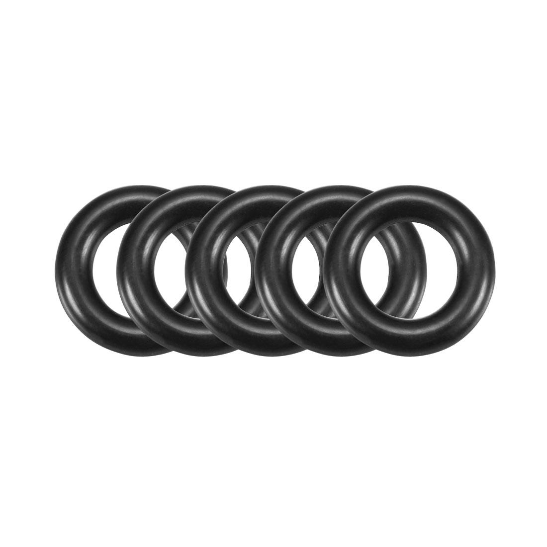 Rubber O-Ring O Ring Washer Plumbing Air Gas Seal Sealing Gasket Black 50 Pcs