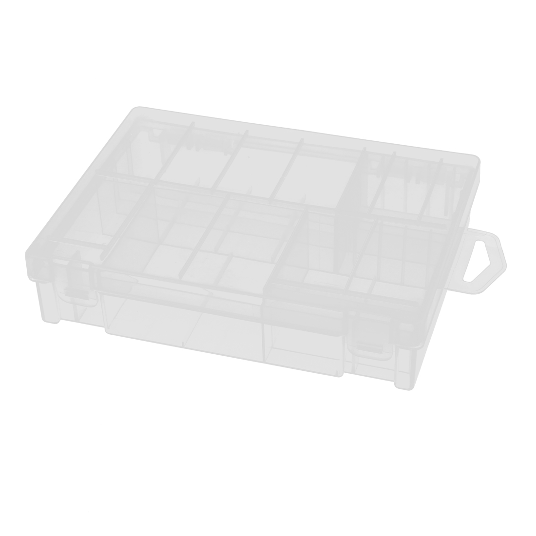 Clear Plastic Rectangle Battery Storage Box Container Holder 16cm x 12cm x 3.6cm