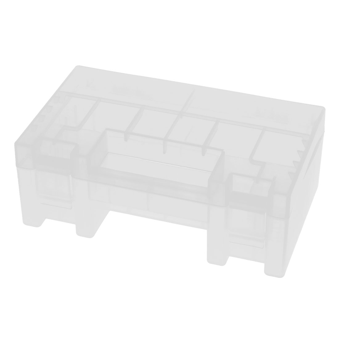 Clear Plastic Storage Box Container Holder w Handle for AA AAA Battery Batteries