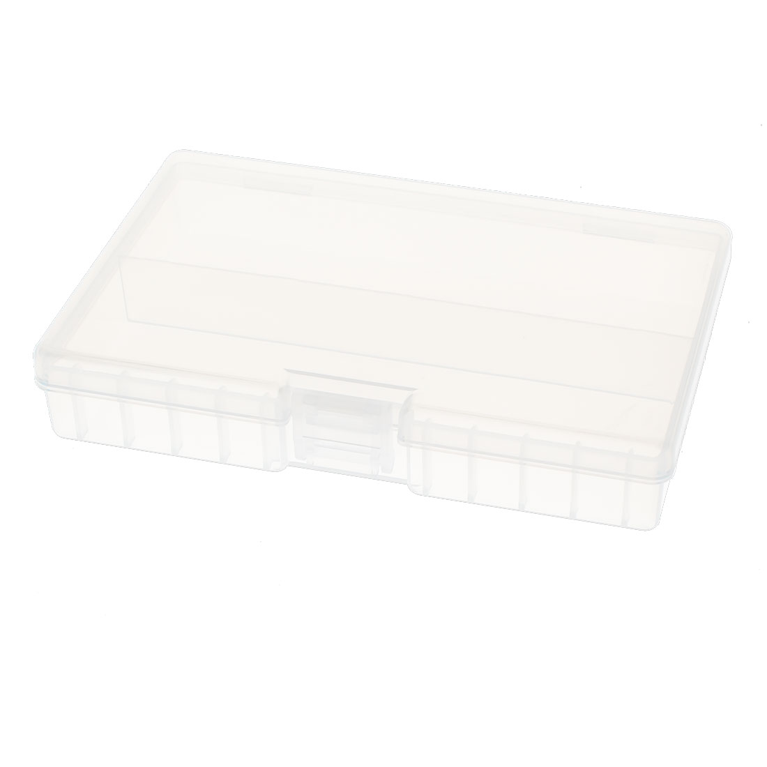 Clear Plastic Rectangle Storage Box Case Holder for 48 x AA Battery Batteries