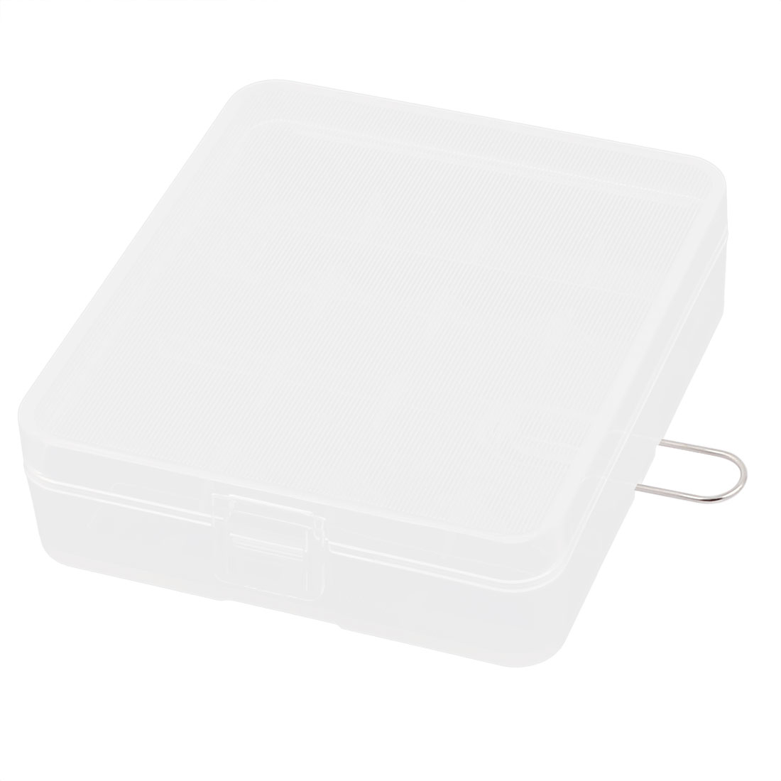 Clear Plastic Rectangle Storage Box Case Container Holder for 4 x 18650 Battery