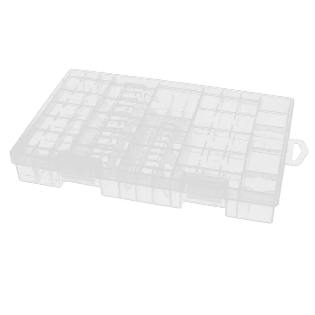 Clear Plastic Rectangle Battery Storage Box Case Container Holder 255mm x 165mm x 36mm