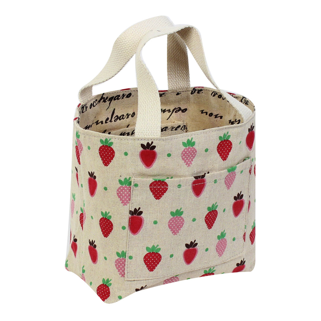 Strawberry Pattern Reusable Shopping Tote Bag