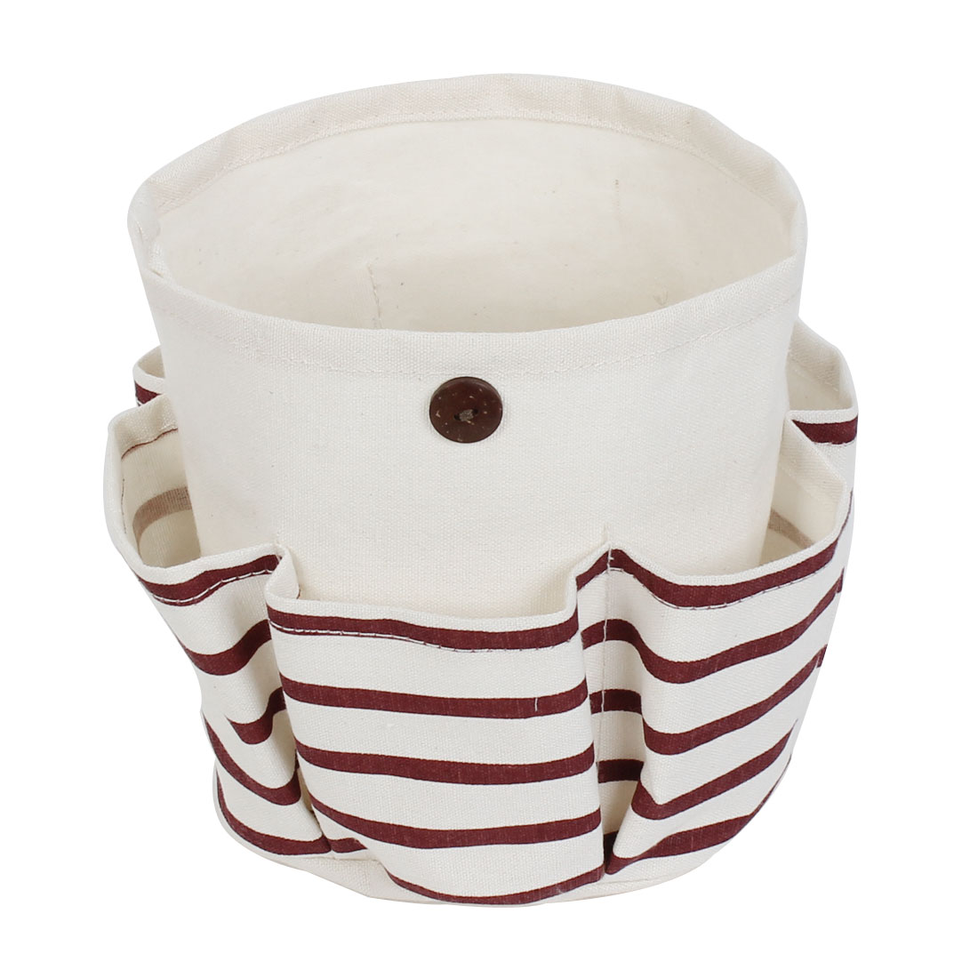 Stripe Pattern Foldable Makeup Cosmetic Storage Bag Container