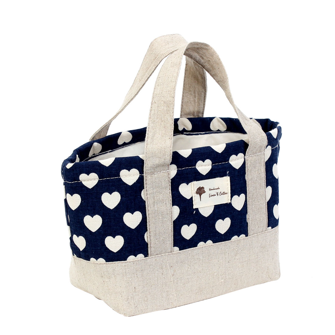 Love Hearts Printed Insulated Cooler Thermal Picnic Lunch Tote Container Storage Bag