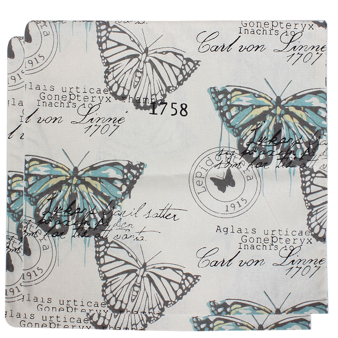 Butterfly Pattern Cushion Cover Pillow Case 45 x 45cm 2 Pcs