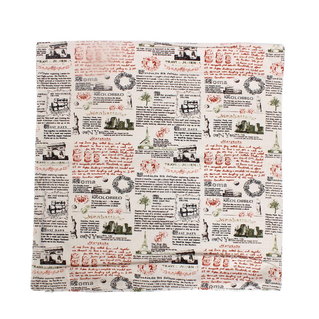 Square Shaped Waist Throw Pillow Cushion Covers 45 x 45cm 2pcs