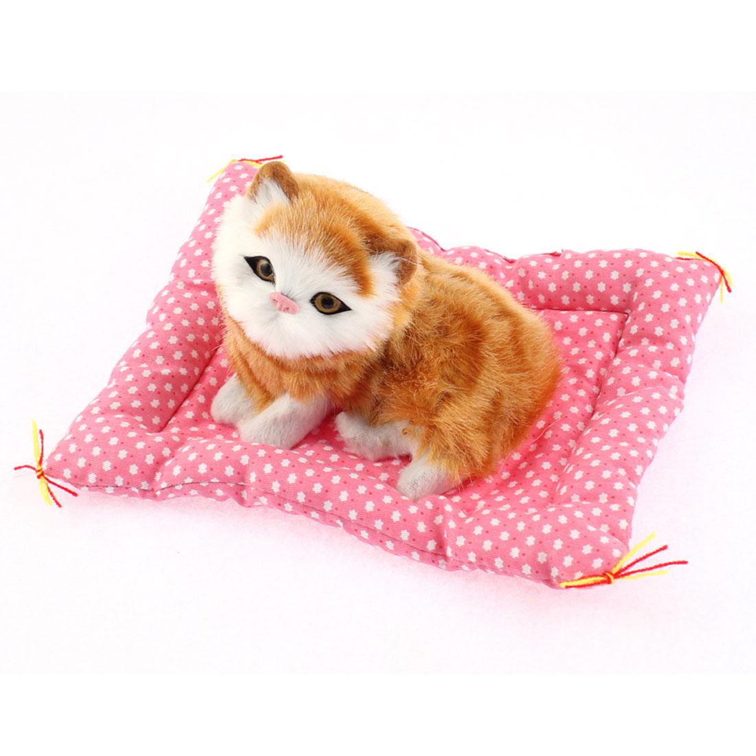 Home Car Simulation Sound Squatting Cat Craft Decoration