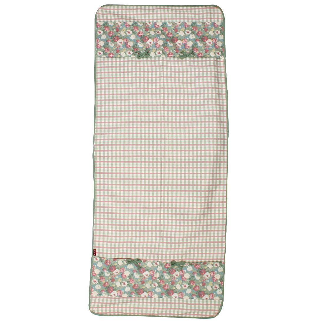 Grid Flower Pattern Refrigerator Dust Cover Organize Bag 60 x 140cm