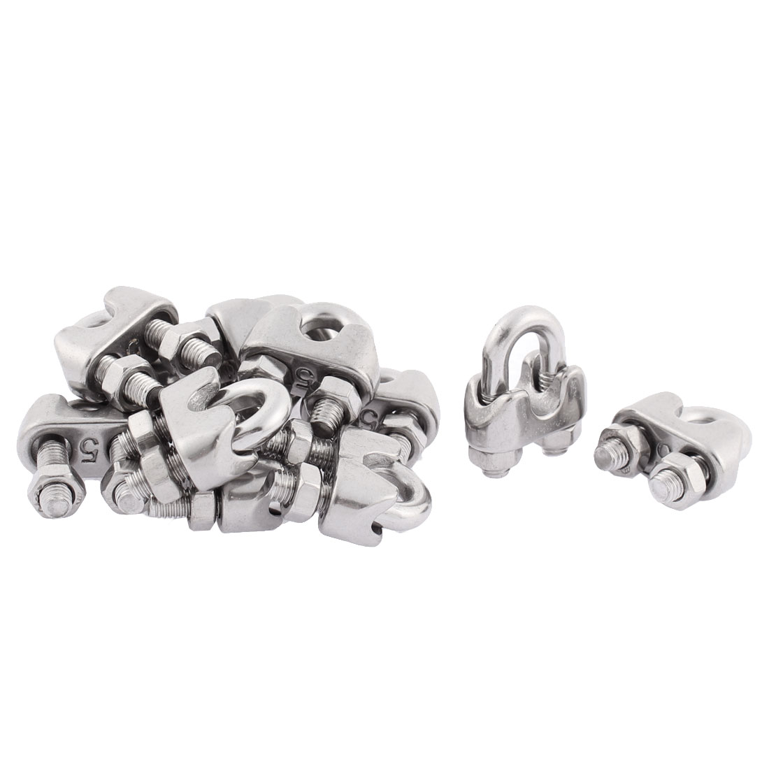 12PCS Stainless Steel Cable Clip Saddle Clamp for Wire Ropes