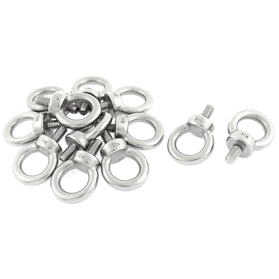 Machinery Shoulder Lifting Eye Bolt Ring M6 x 12mm Male Thread 12pcs