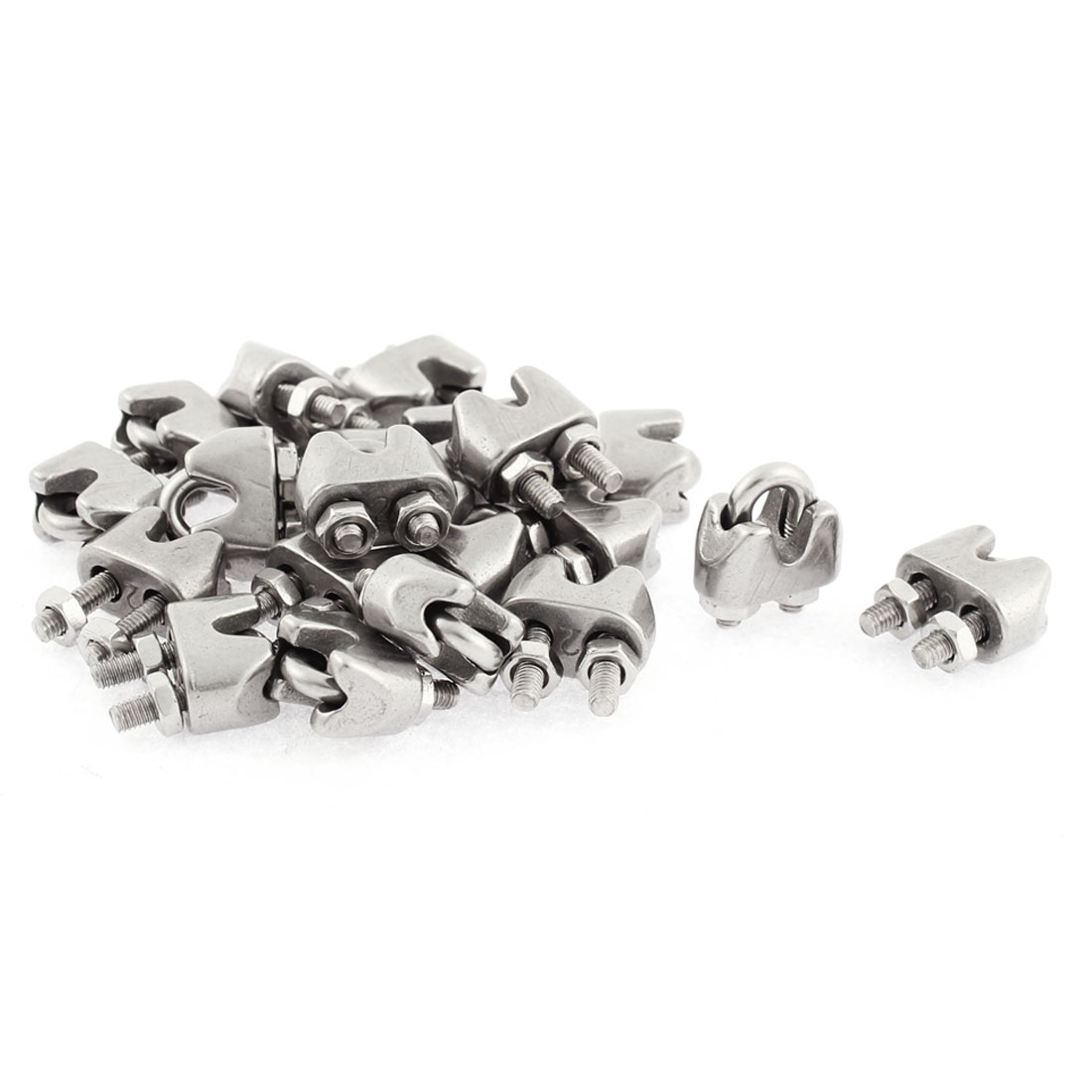 M2 Wire Rope Cable Replacement Clip Clamp Fasteners 20pcs