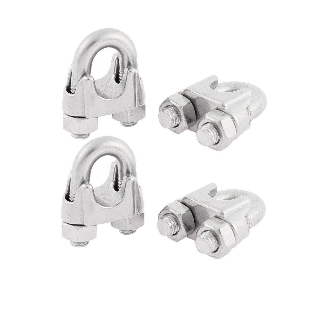 M12 Single Saddle Screwed Wire Rope Cable Clips Clamps 4pcs