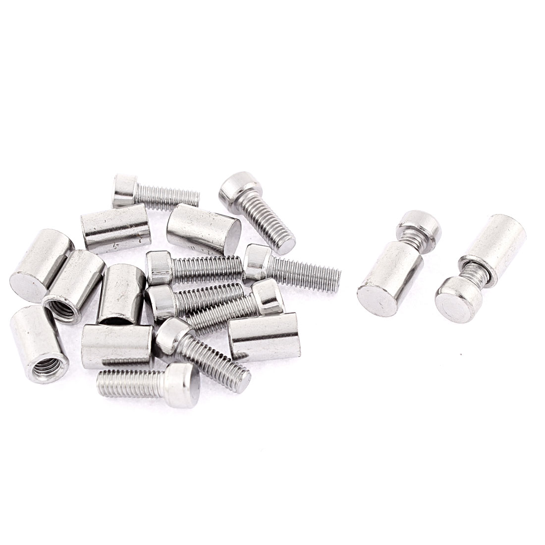 8mm x 20mm Stainless Steel Standoff Hardware 10pcs for Glass