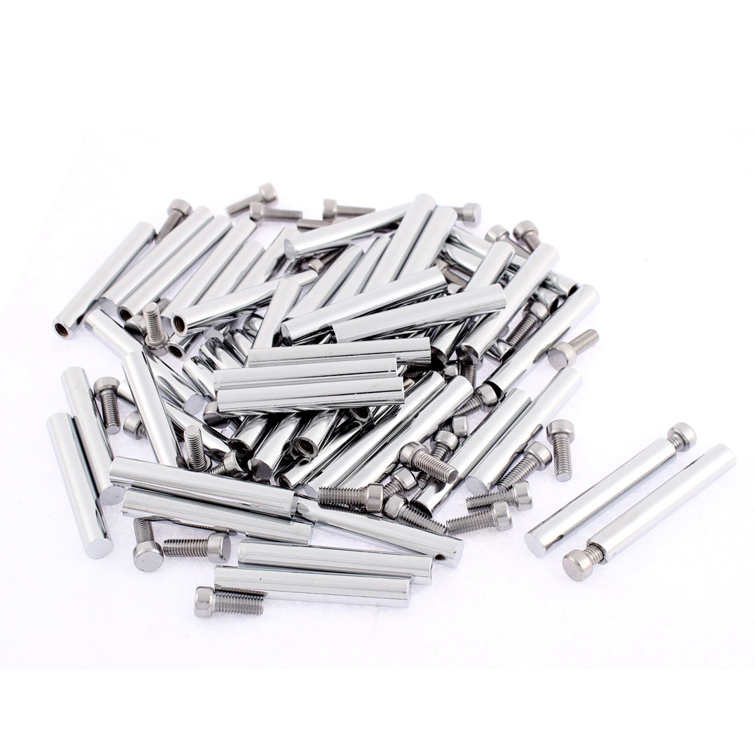 Advertisement Glass Wall Mounted Screw Nails Clamp Holder 8 x 55mm 50pcs