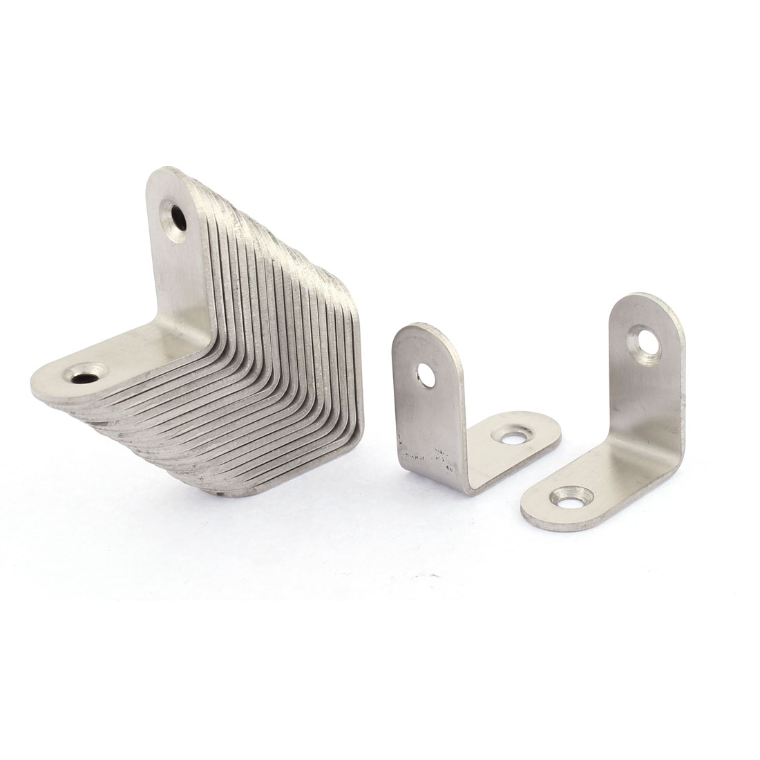 Stainless Steel L Shaped Right Angle Bracket 30 x 30mm 20pcs
