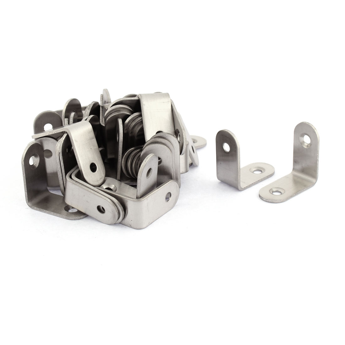 Stainless Steel L Shaped Corner Brace Joint Angle Bracket 30 x 30mm 50pcs