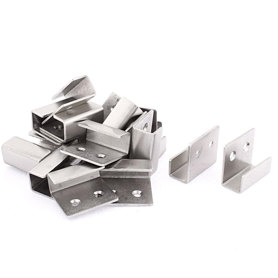 Ceramic Tile Display Wall Hanger Fasteners Silver Tone 20pcs