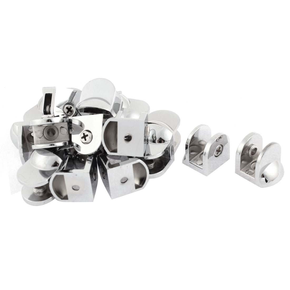 Semicircle Adjustable 8-10mm Thickness Glass Clip Clamp Bracket Support 20pcs
