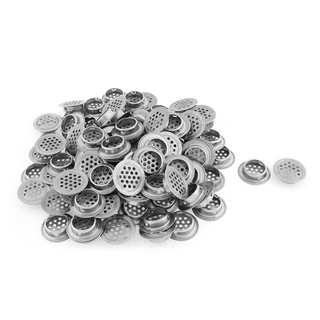 Perforated Round Mesh Air Vents Ventilation Louvers 25mm Bottom Dia 100 Pcs