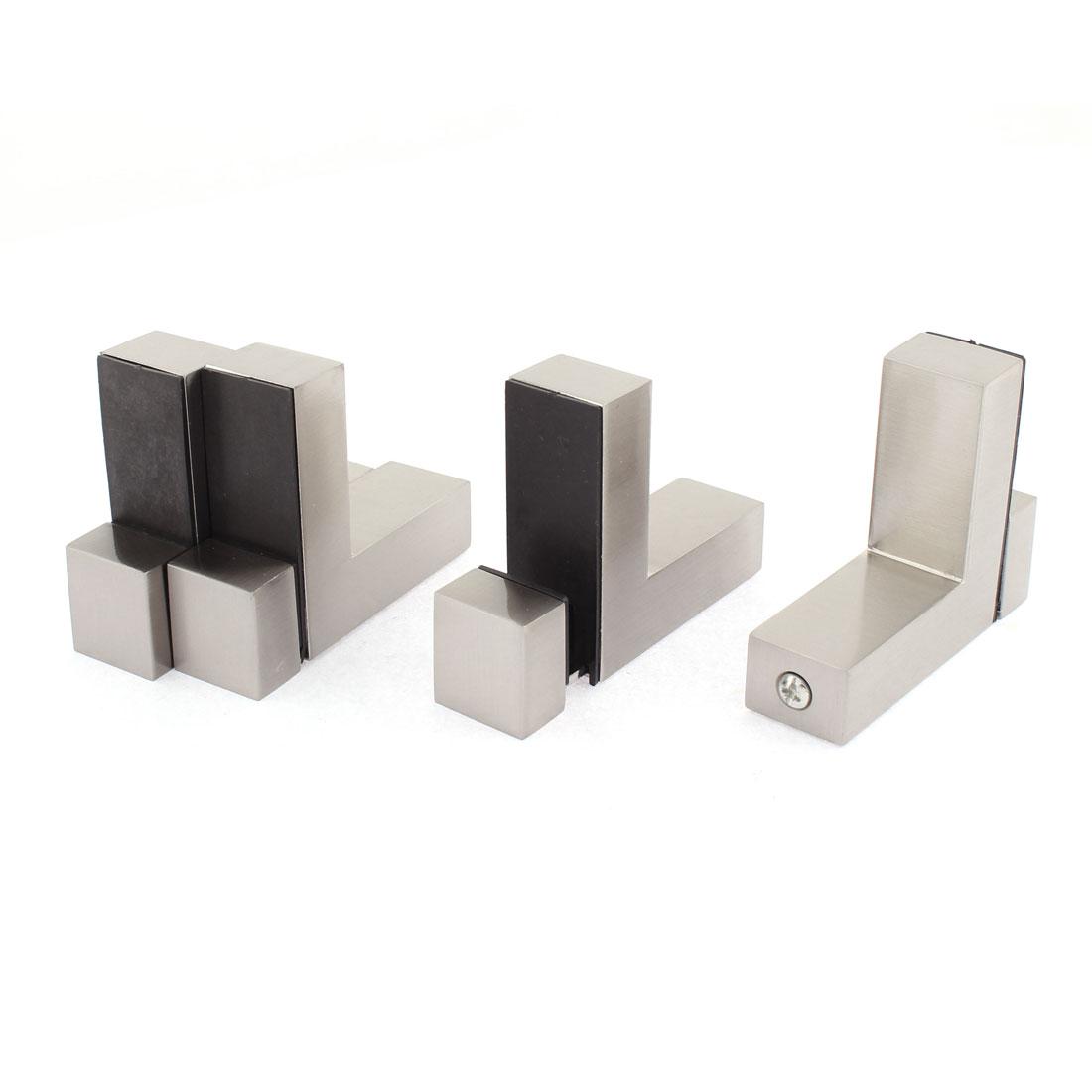 L Shaped Adjustable Glass Clip Clamp Bracket Holder 4pcs