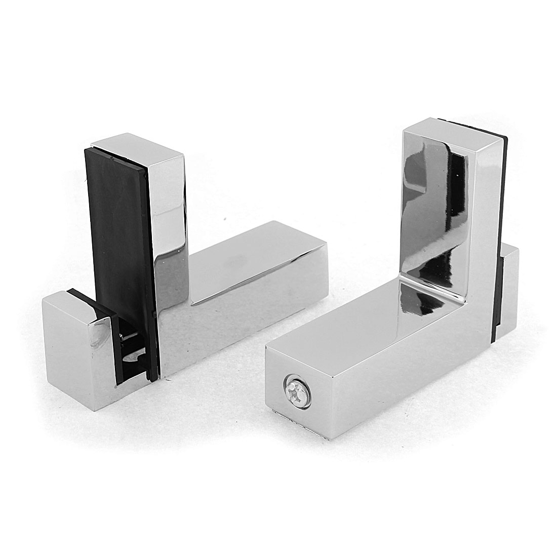 Adjustable 27mm Thick Glass Shelf Clip Clamp Support Bracket 2pcs