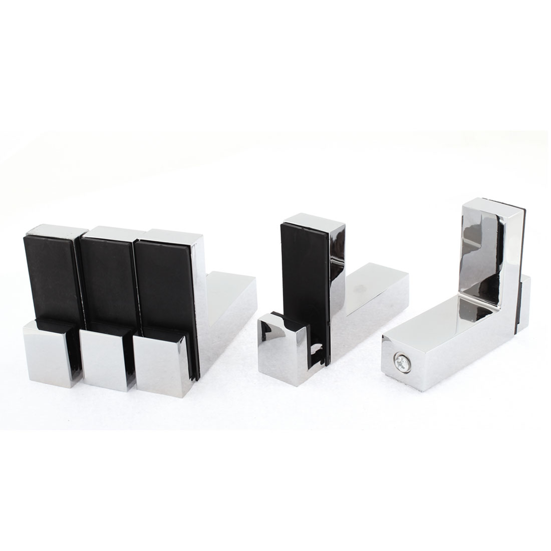 L Shaped Adjustable Glass Shelf Clip Clamp Support Bracket 5pcs