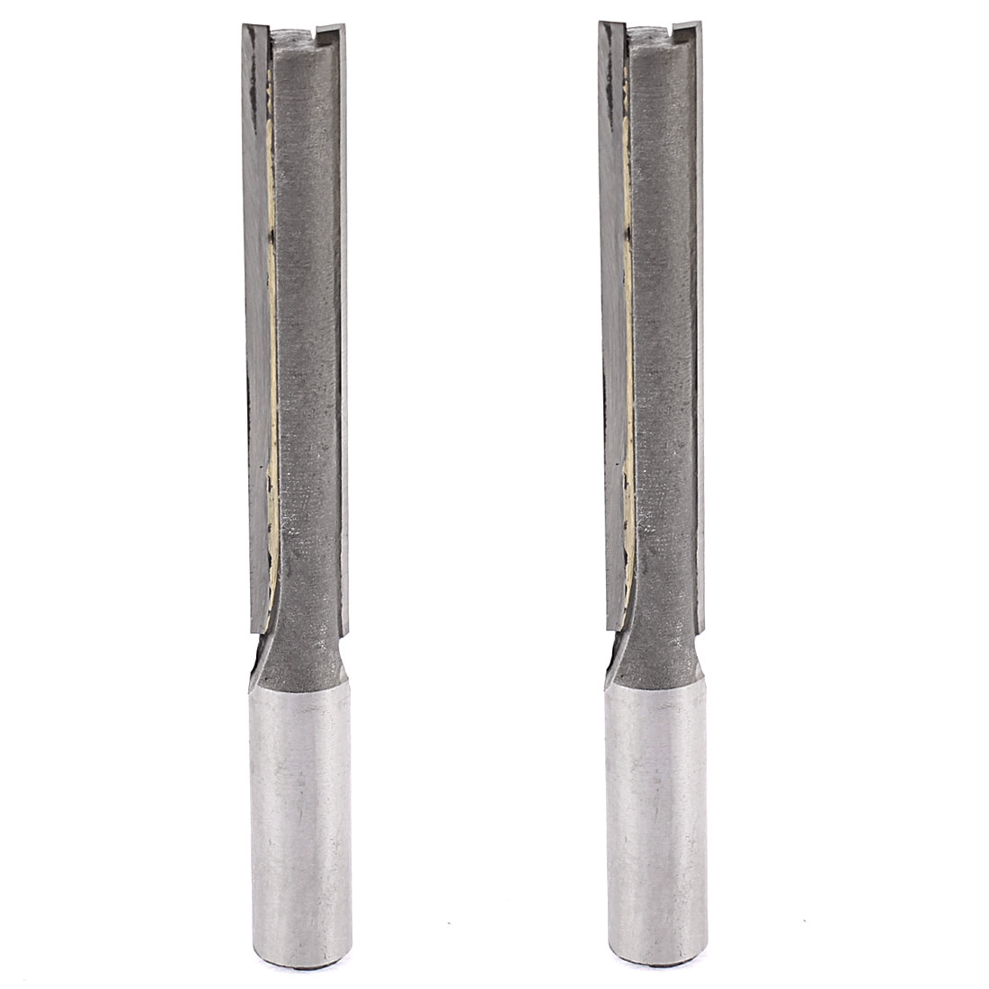 "1/2"" x 1/2"" x 3"" Double Flutes Edges Straight Router Bit 120mm Length 2pcs"