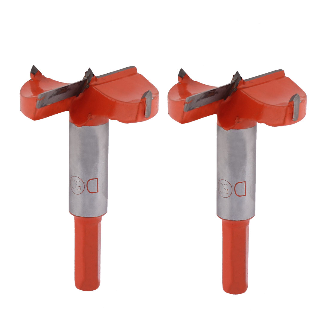 Carpenter Woodworking 50mm Cutting Dia Drilling Carbide Tip Hinge Boring Bit 2pcs