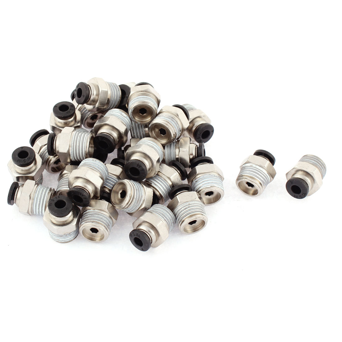 30 Pcs 1/4BSP Male Thread 4mm Tube Push In Joint Pneumatic Connector Quick Fittings