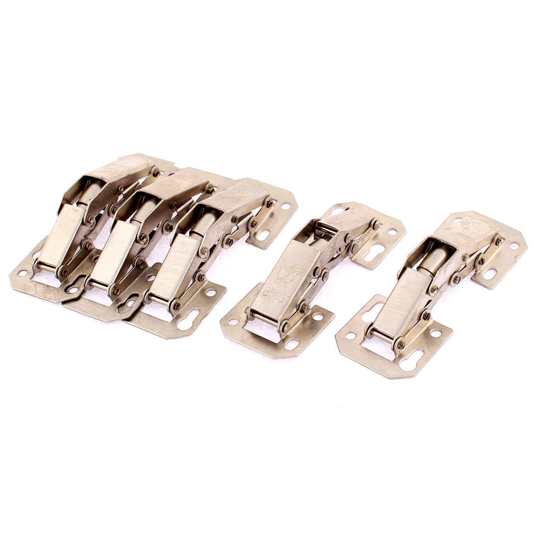 Cabinet 90 Degree Hydraulic Self Close Half Overlay Concealed Inset Hinge 5pcs