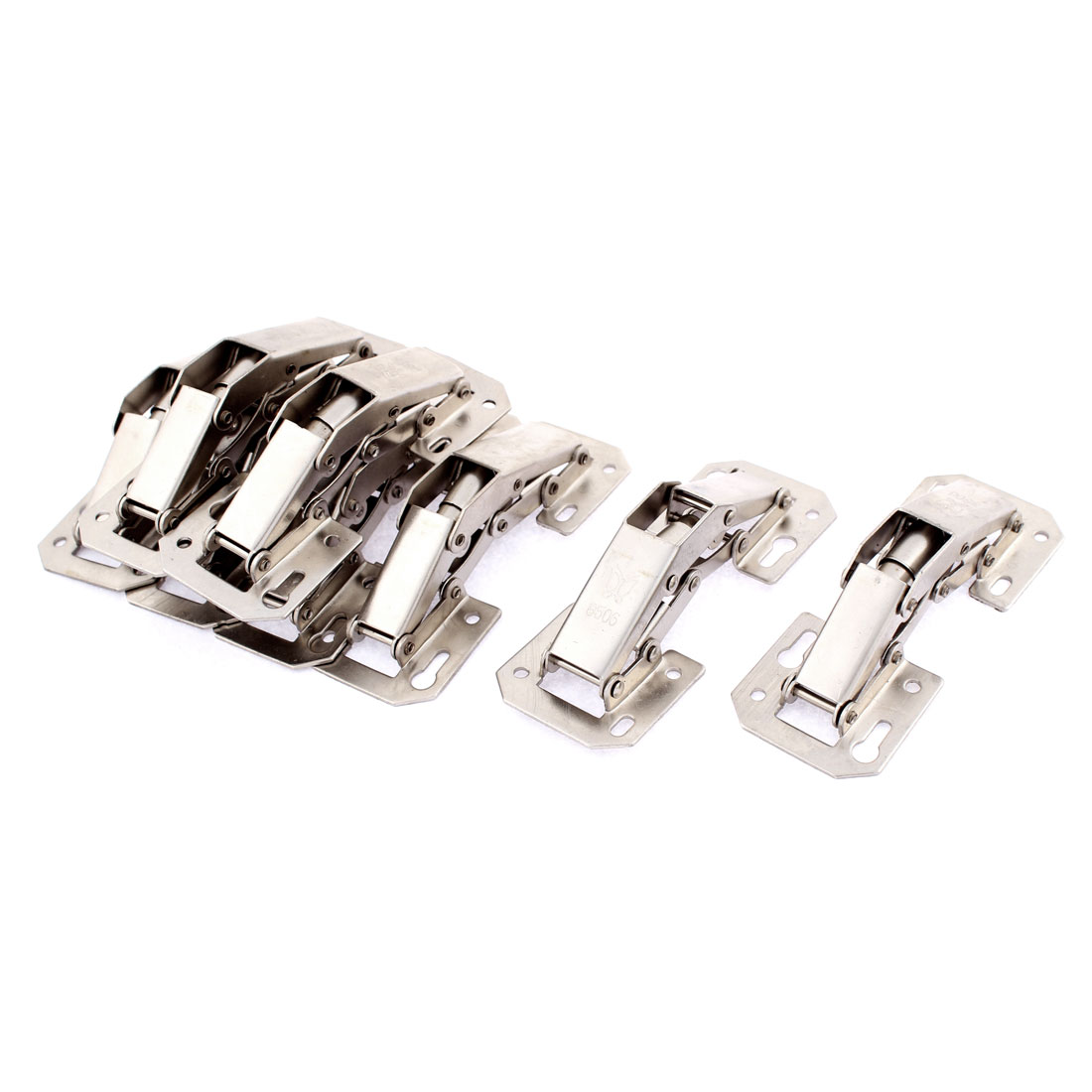 Cabinet Hydraulic Self Close Half Overlay Clip Concealed Inset Hinges 8pcs