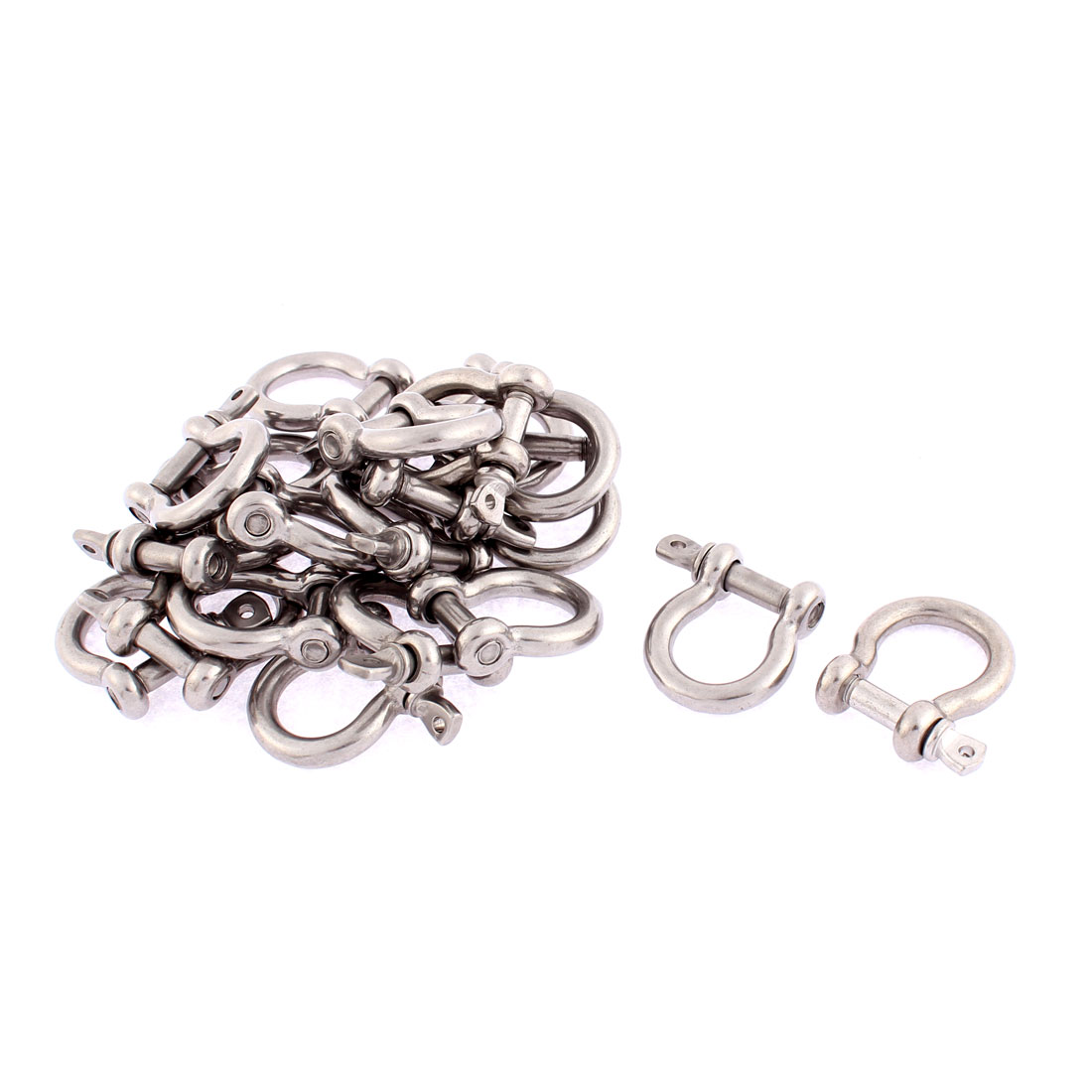 M5 Stainless Steel D Ring Wire Rope Bow Shackle 20pcs