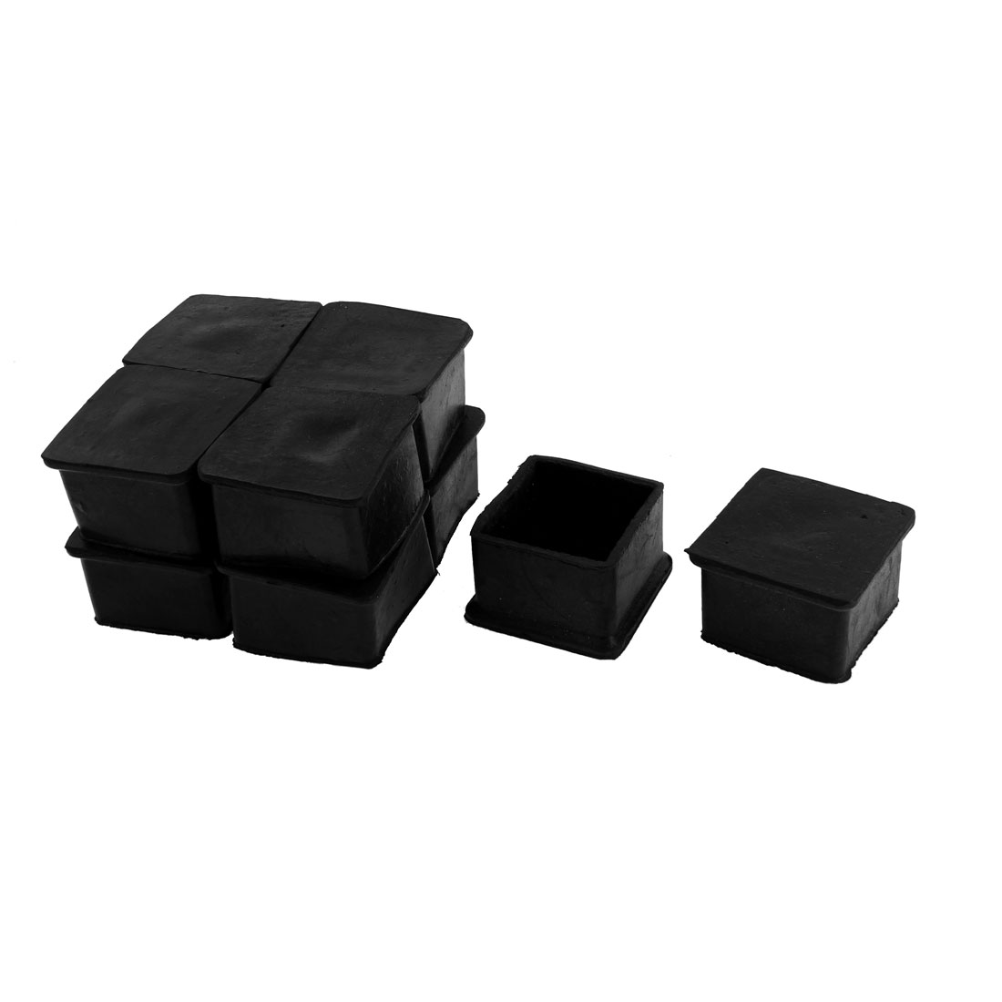 Furniture Square Foot Covers Floor Protector Black 50 x 50mm 10pcs