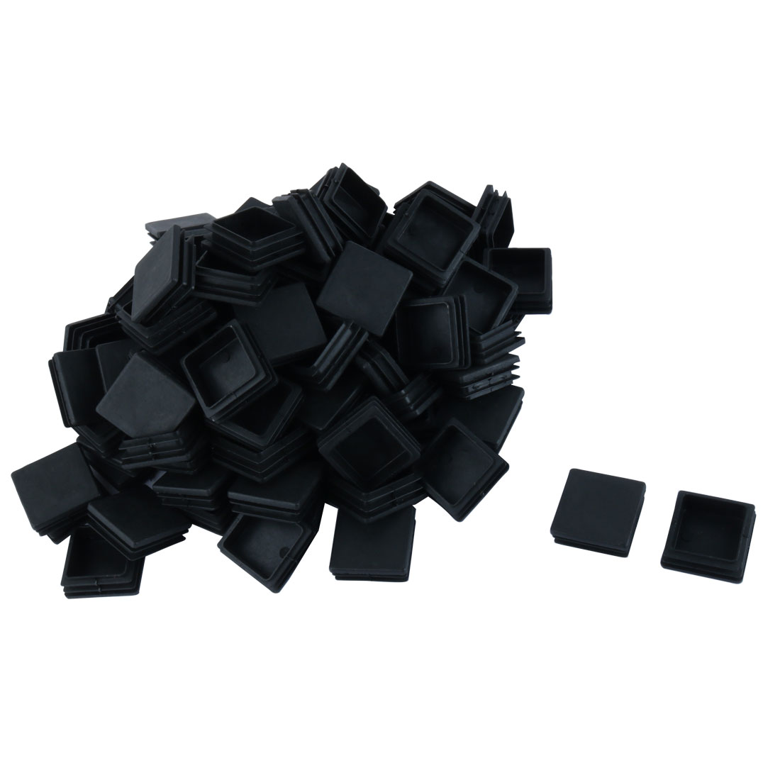 Plastic Blanking End Caps Square Tube Insert Black 38 x 38 x 15mm 100pcs