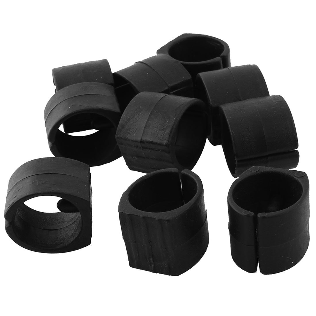 Home Furniture Chair Pipe Plastic Foot Clamp Pads U-Shape Caps Black 10pcs
