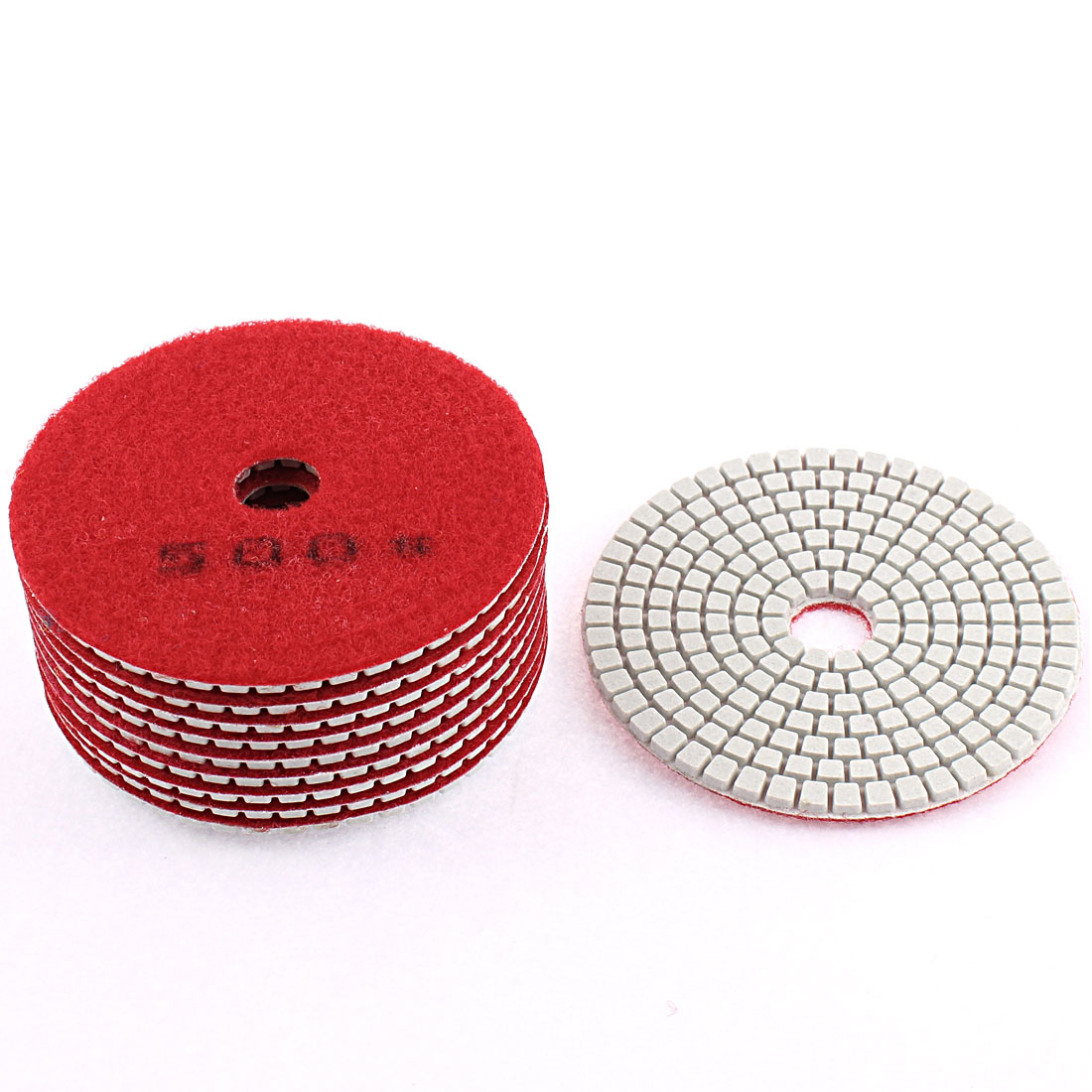 Diamond Polishing Pads for Granite Marble Concrete 500 Grit 100mm Diameter 10 Pcs