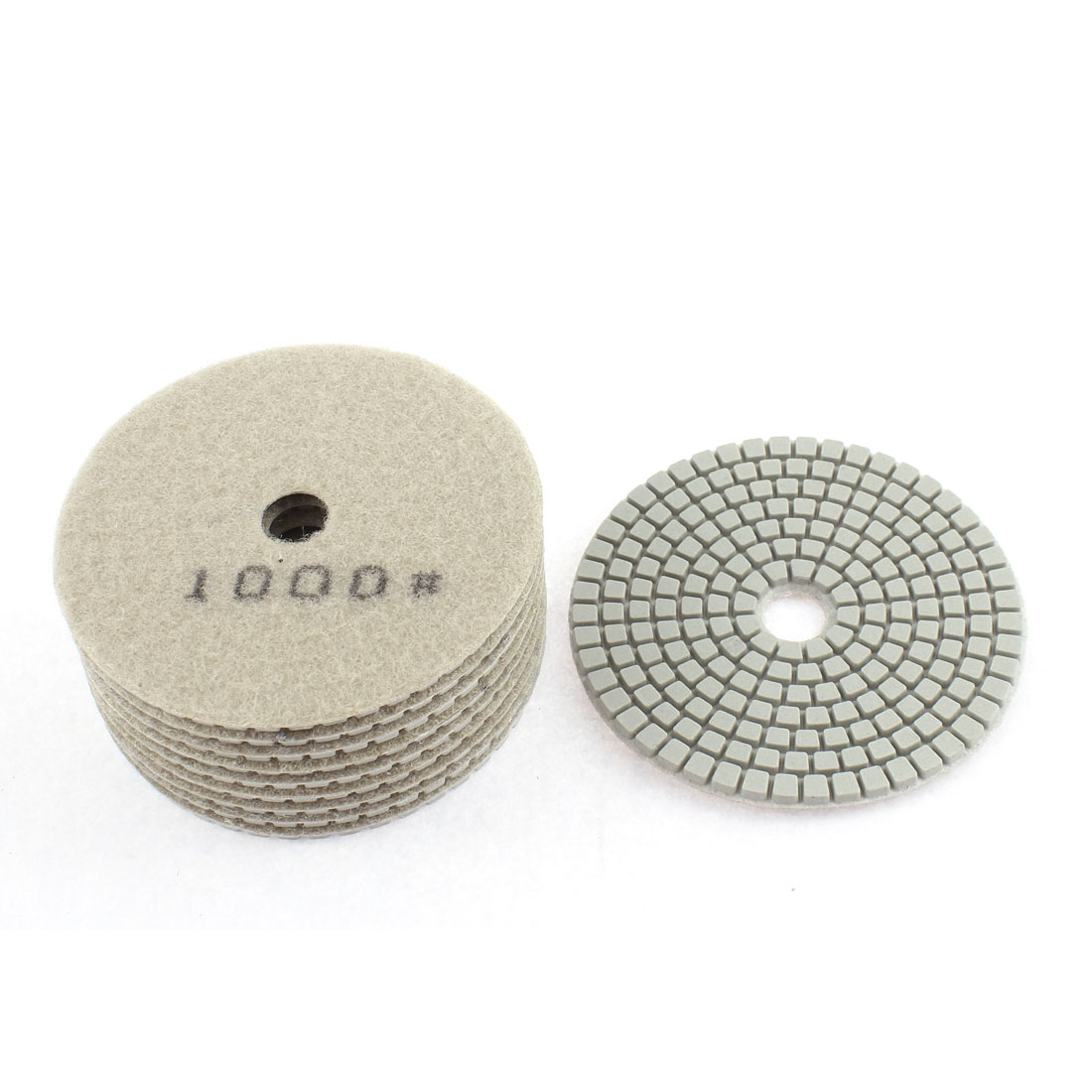 Diamond Polishing Pads for Granite Marble Concrete 1000 Grit 100mm Diameter 10 Pcs