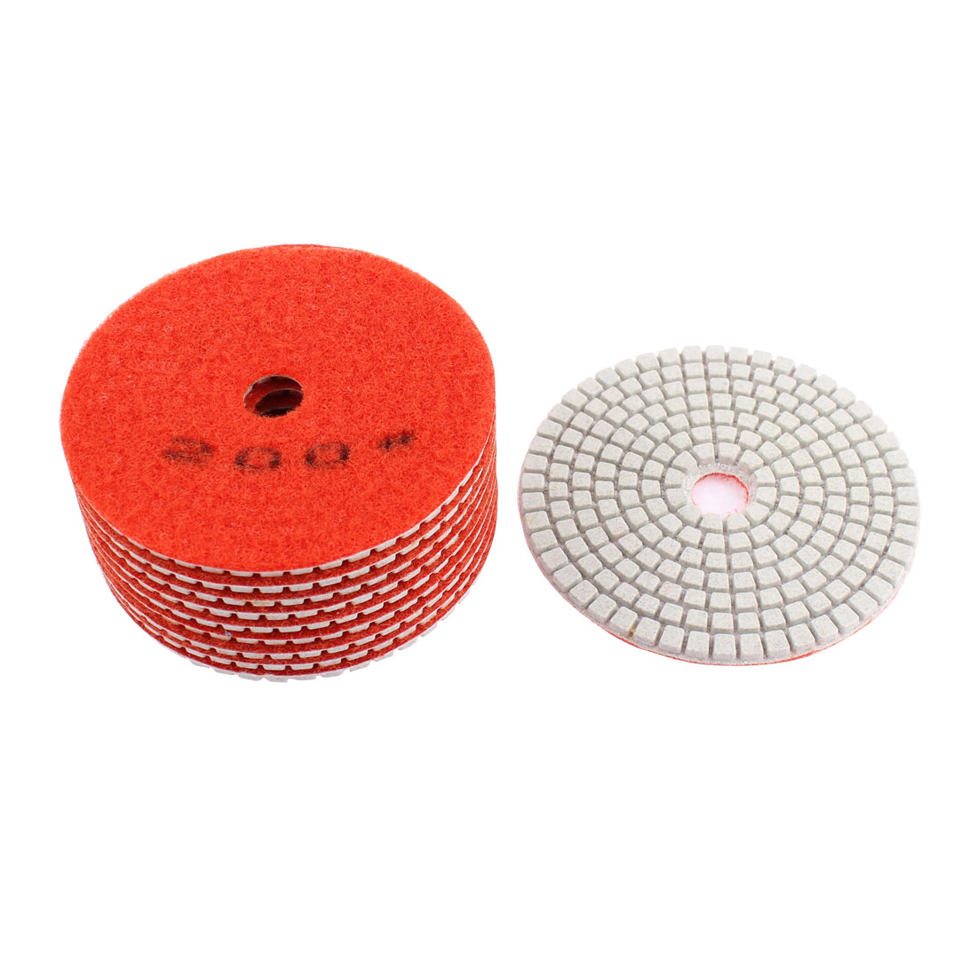 Diamond Polishing Pads for Granite Marble Concrete 200 Grit 100mm Diameter 10 Pcs