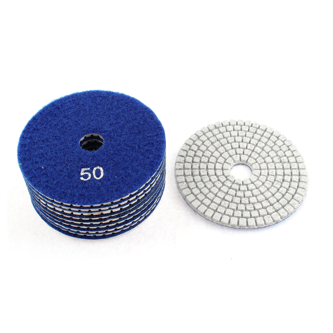 Diamond Polishing Pads for Granite Marble Concrete 50 Grit 100mm Diameter 10 Pcs