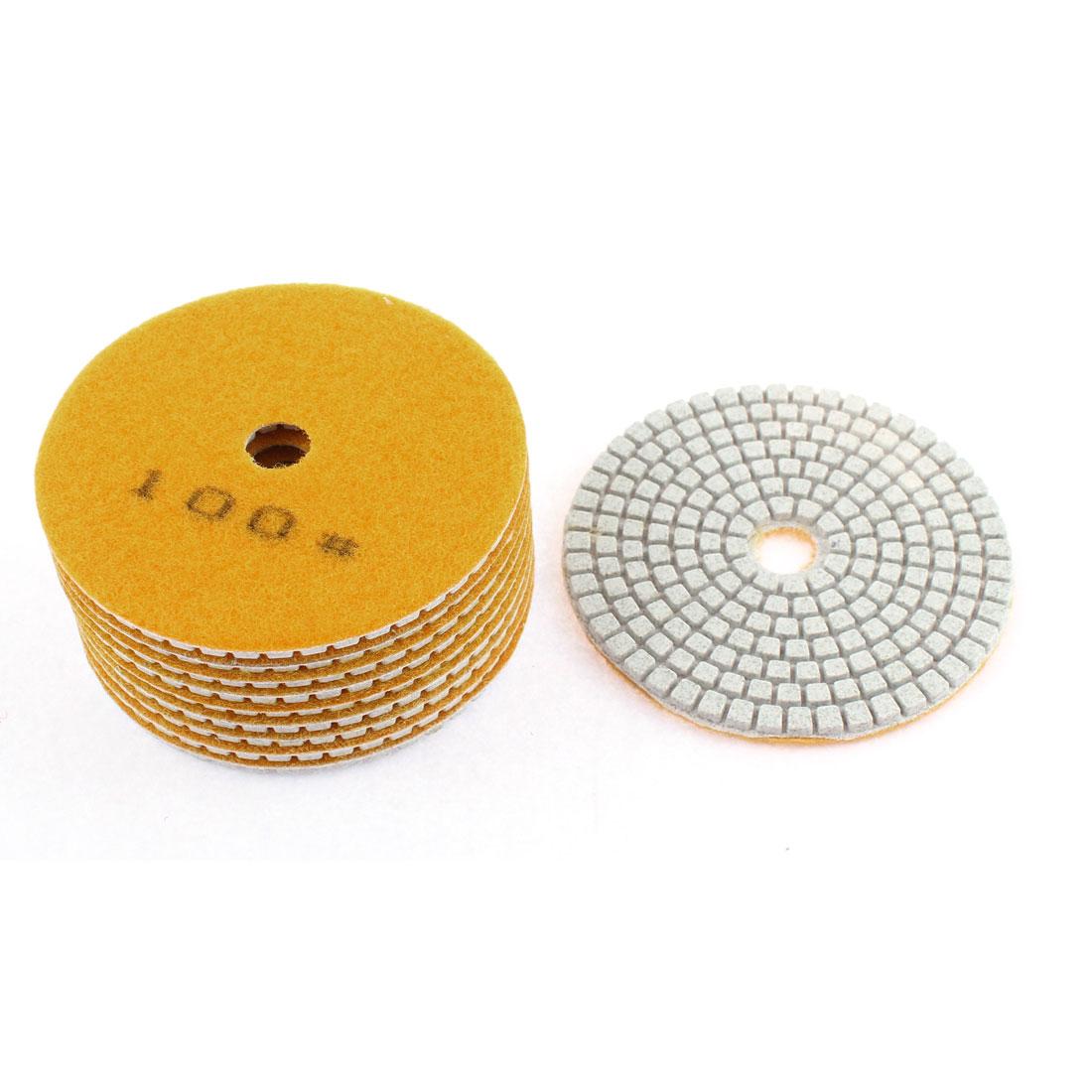 Diamond Polishing Pads for Granite Marble Concrete 200 Grit 100mm Diameter 10 Pcs