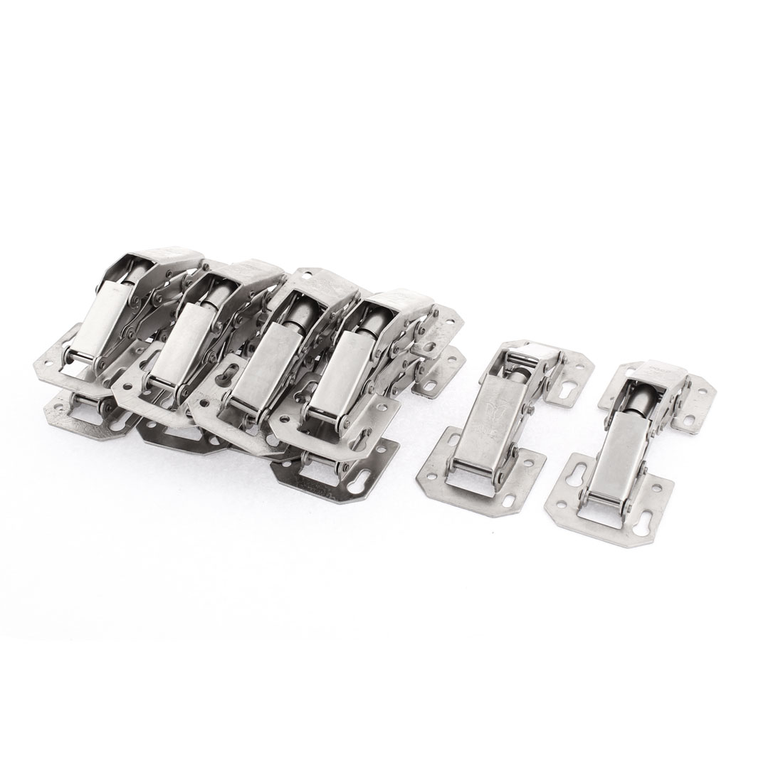 Home Cupboard Cabinet Door 90 Degree Concealed Metal Hinge 10 Pcs