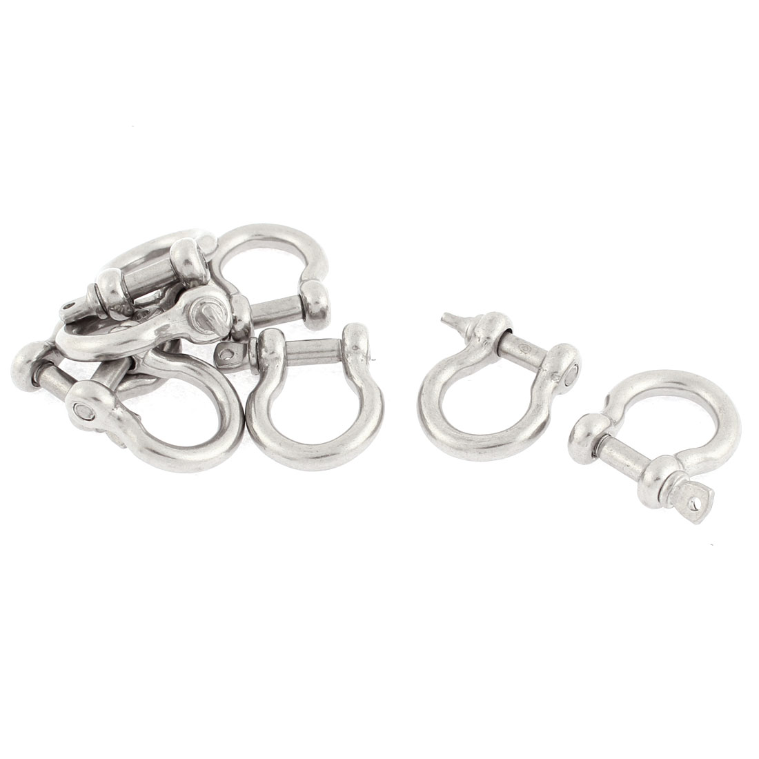 Stainless Steel Fastener Bow Shackles 8PCS for 4mm Wire Rope