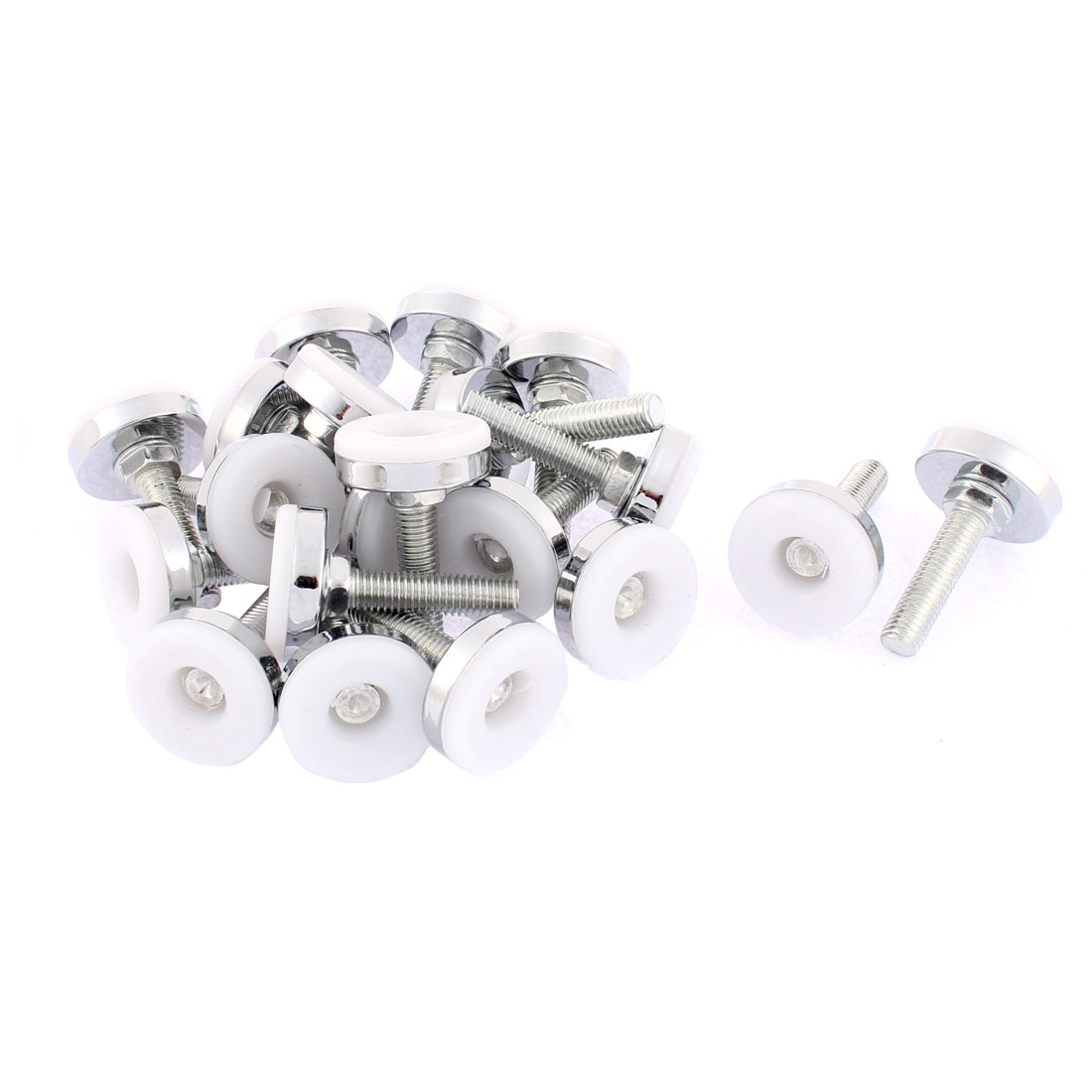 Furniture Screw On Type Glide Leveling Foot Adjuster M10 x 37mm 20pcs