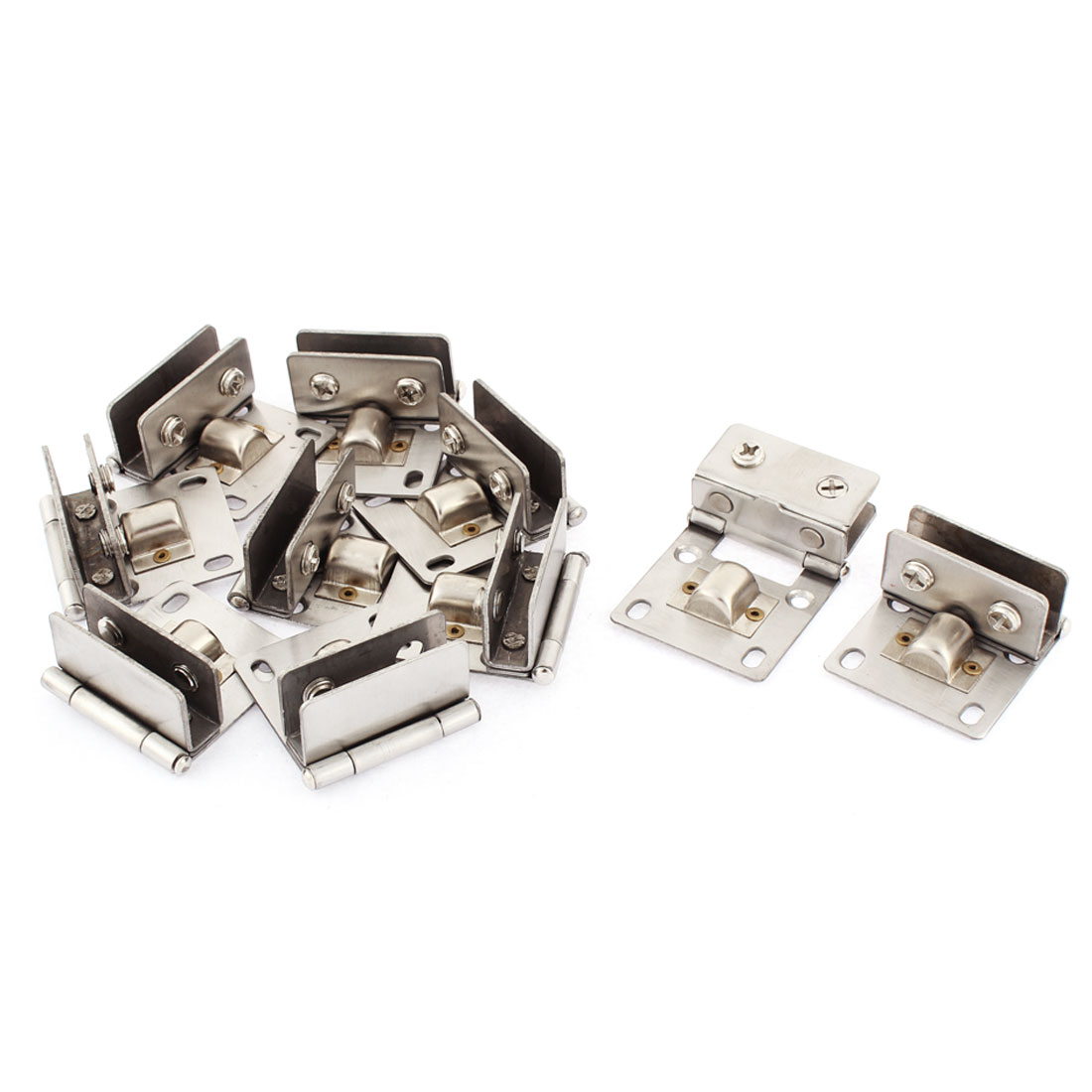 Home Cupboard Cabinet Glass Door 5mm-8mm Thickness Hinge Clamps 10 Pcs