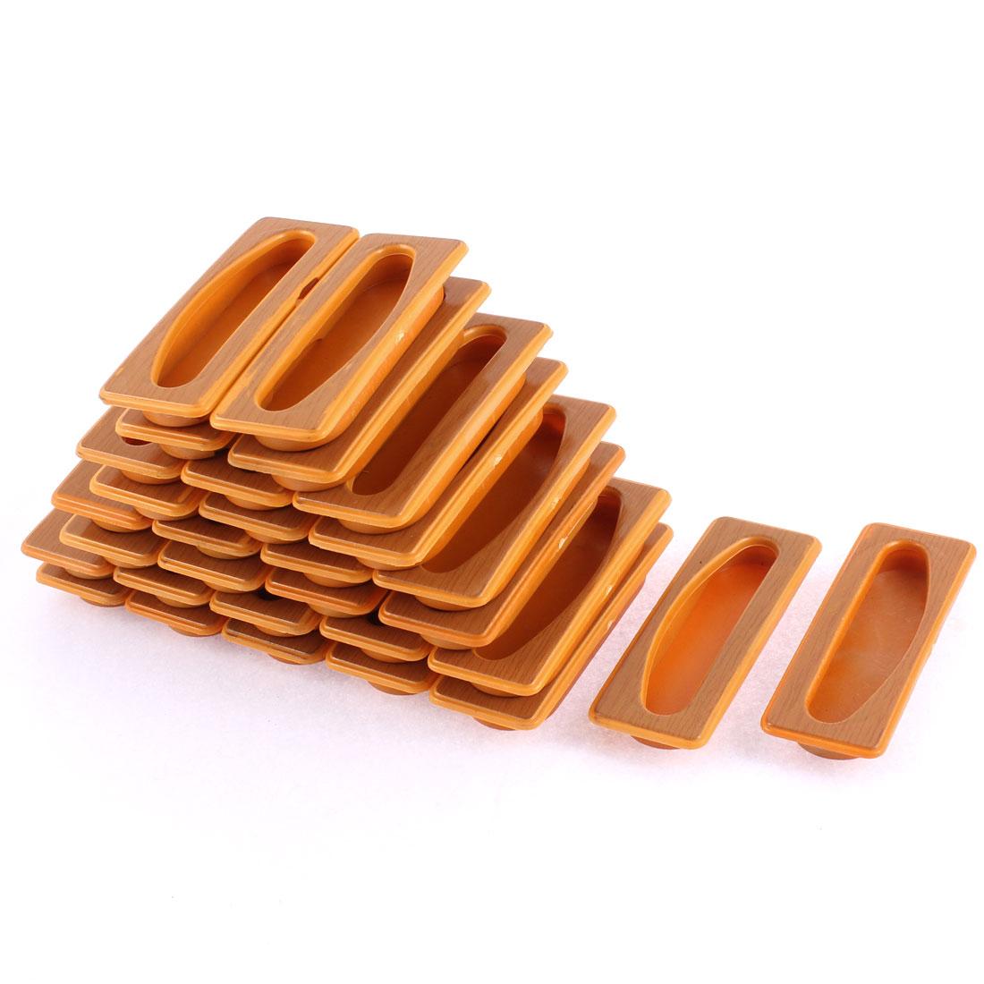 Door Cabinet Drawer Plastic Rectangular Recessed Flush Pull Handle 30pcs