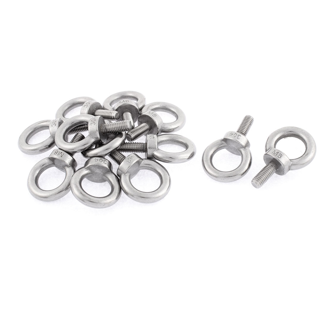 Machinery Shoulder Lifting Eye Bolt Ring M8 Male Thread 12pcs