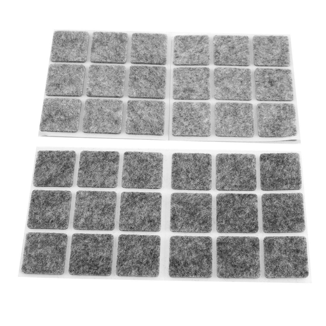 Furniture Antislip Adhesive Felt Floor Protector Pads 54 Pcs