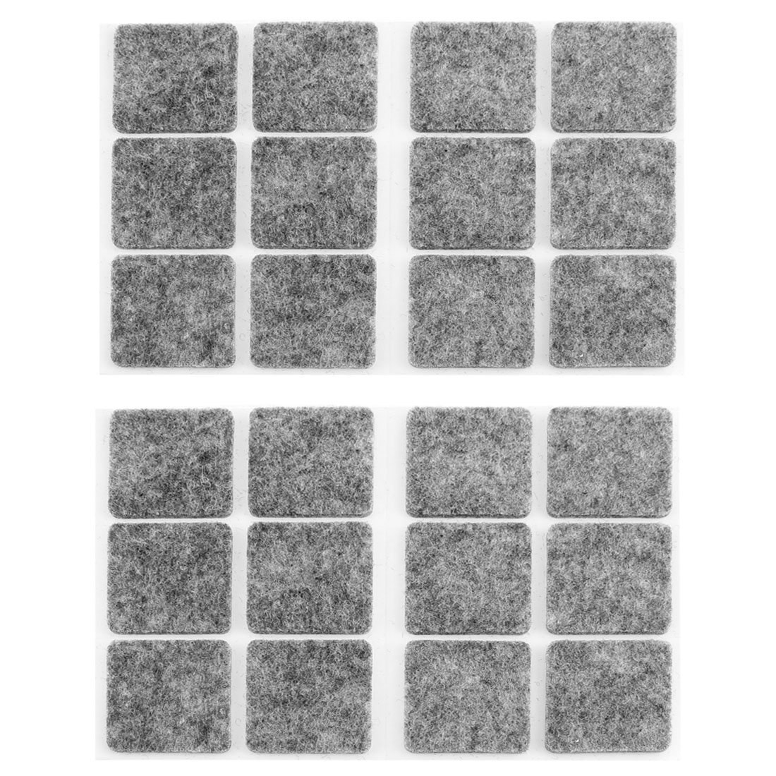 Furniture Feet Non Slip Self Adhesive Felt Protector Pads Floor Care Mats 24pcs