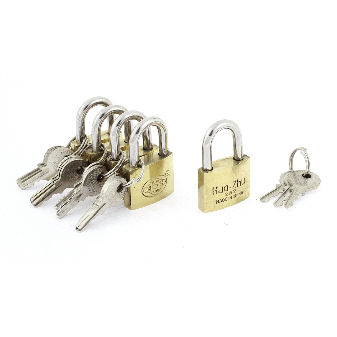 Cabinet Cupboard Desk Box Safety Padlock Locks 5pcs w Keys